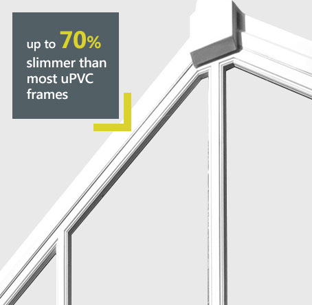 Atlas aluminium roof 70% slimmer than uPVC