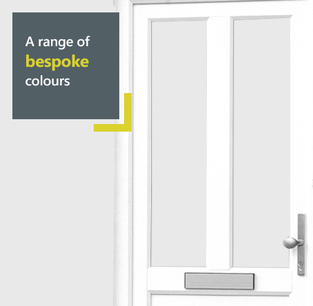 Eurocell uPVC entrance door available in a range of bespoke colours