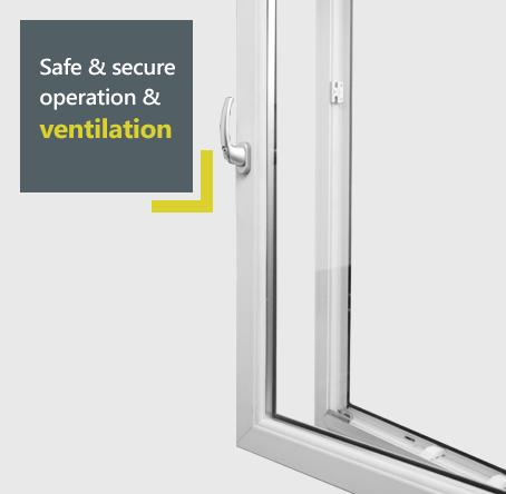 Eurocell tilt and turn windows - safe and secure ventilation