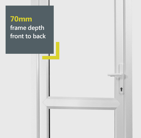 Halo uPVC entrance door with 70mm frame depth