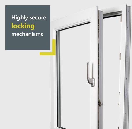 Halo uPVC tilt and turn uPVC window - highly secure locking mechanisms