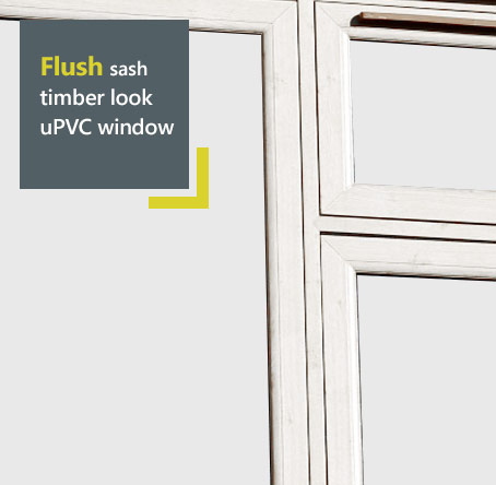 Liniar uPVC flush sash window - timber appearance