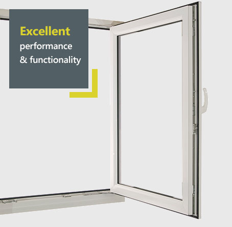Liniar tilt and turn uPVC - excellent performance and functionality