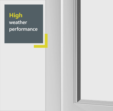 Smart aluminium flush window system - high weather performance