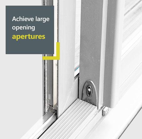 Smart aluminium sliding patio door