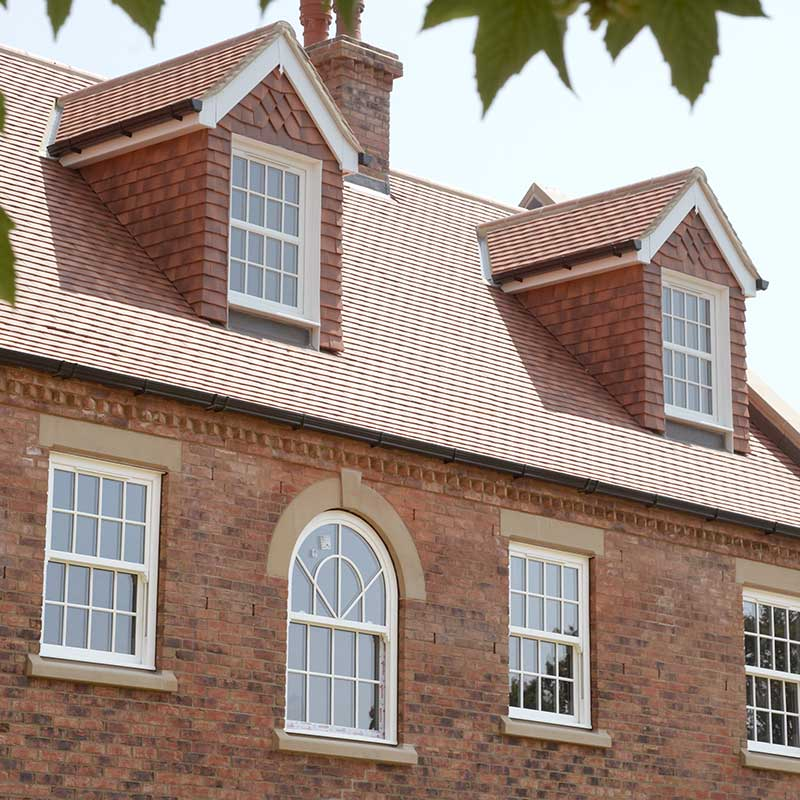 Standard and arched sash windows