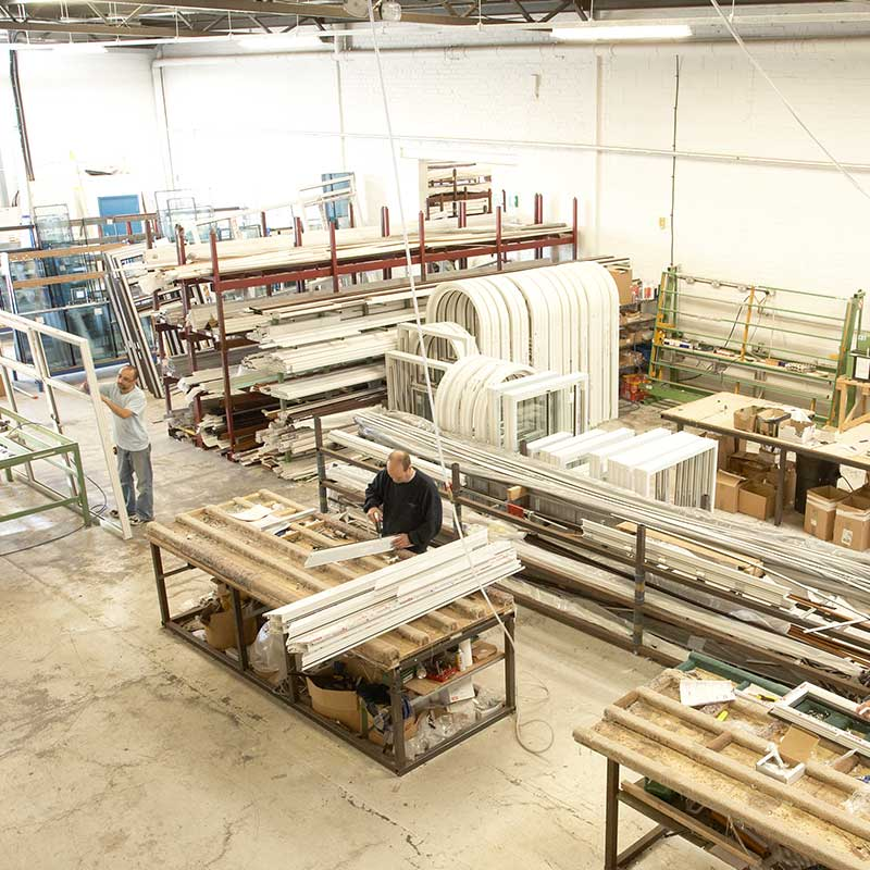 Our window factory which supplies many installers