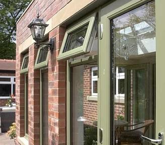 coloured casement windows